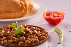 Chole Bhature - A popular dish from North India Stock Images