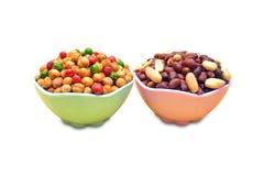 Chole e amendoim fritados Fotos de Stock Royalty Free