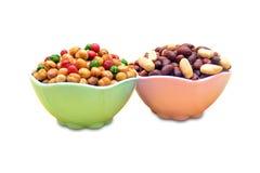 Chole e amendoim fritados Fotografia de Stock Royalty Free