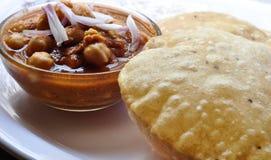 Chole Puri images stock