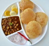 Chole Puri royalty-vrije stock foto's
