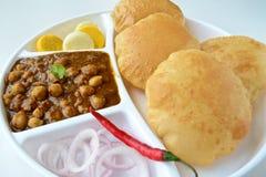 Chole Puri Royalty Free Stock Photography