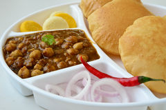 Chole Puri Stock Images