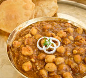 Chole Puri Royalty Free Stock Photography