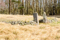 Cholera burial ground. Old abandoned cholera burial ground in Blekinge, Sweden, from around 1853-57. Because of the risk of contamination, burials were not Royalty Free Stock Image