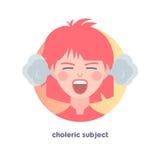 Choleric subject image. Stock Image