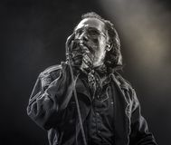 Cholerny, Dave Vanian żywy koncert 2017 Fotografia Stock