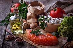 Cholesterol diet, healthy food for heart Royalty Free Stock Images