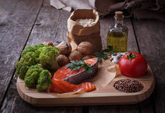 Cholesterol diet, healthy food for heart. Selective focus royalty free stock photography