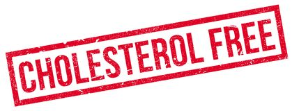Cholesterol Free rubber stamp Stock Photography
