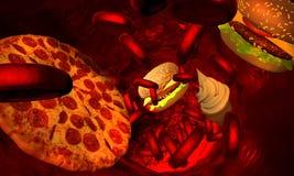 Cholesterol geblokkeerde slagader, medisch concept vector illustratie