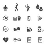 Cholesterol icons Stock Image