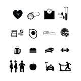 Cholesterol icons set Royalty Free Stock Photo