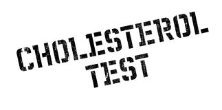 Cholesterol Test rubber stamp Stock Photo