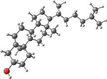 Cholesterole molekyl på vit bakgrund Fotografering för Bildbyråer
