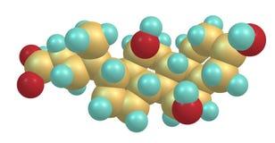 Cholic acid molecular structure isolated on white Royalty Free Stock Photography
