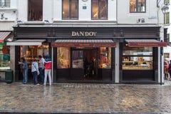 Cholocate Laden mit Schaufenster Brüssel Belgien Stockfotos