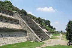 cholula极大的金字塔 图库摄影