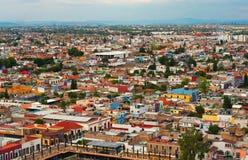 Cholula鸟瞰图在普埃布拉,墨西哥 免版税库存图片