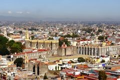 Cholula aerial I Royalty Free Stock Photography