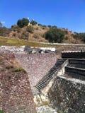 Cholula, igreja sobre o local archelogical imagens de stock royalty free