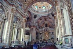 Cholula kyrka Royaltyfria Foton