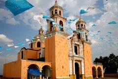 cholula kyrkliga mexico Royaltyfria Bilder