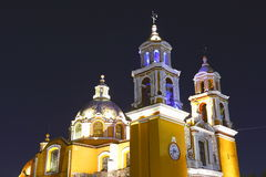 Cholula la nuit IV photographie stock