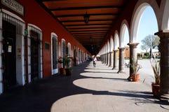 Cholula, Mexico-November 7, 2016: The centre of the town Cholula Stock Photos