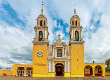 Church of Our Lady of Remedies in Cholula. Mexico Stock Images