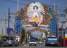 Cholula, Mexico-November 7, 2016: Entrance to Choloula Town Royalty Free Stock Images
