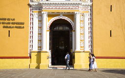 Cholula, Mexico-November 7, 2016: Entrance to Church of Our Lady of Remedies Stock Photography