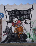 Cholula, Mexico-November 7, 2016: Mexican Graffiti Stock Image