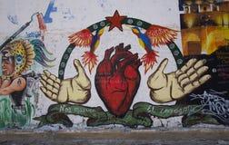 Cholula, Mexico-November 7, 2016: Mexican Graffiti Stock Photography