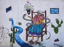 Cholula, Mexico-November 7, 2016: Mexican Graffiti Royalty Free Stock Photography