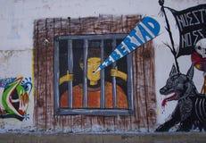 Cholula, Mexico-November 7, 2016: Mexican Graffiti Stock Images