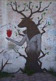 Cholula, Mexico-November 7, 2016: Mexican Graffiti Royalty Free Stock Image