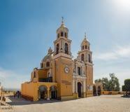 Cholula Mexico, Señora de los Remedios kyrka royaltyfri foto