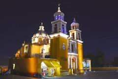 Cholula at night VI Royalty Free Stock Photo