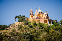 Cholula pyramid Royalty Free Stock Images