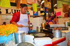 Cholula rynek, tradycyjny jedzenie México zdjęcia stock