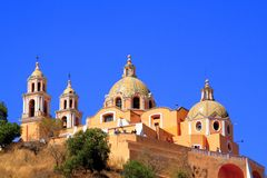 Cholula sanctuary Royalty Free Stock Photography