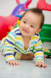Chomchai Baby looking and smile. Stock Photos