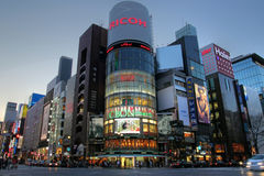 chome横穿ginza日本彼处的东京 免版税库存图片