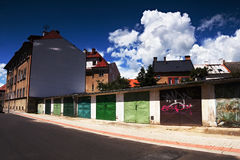 2016/06/18 - Chomutov city, Czech republic - nice dark blue sky with large white clouds Stock Images