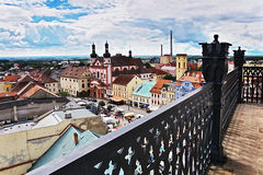 2016/06/18 Chomutov city, Czech republic - square 'Namesti 1. Maje' Royalty Free Stock Photos