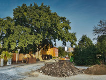 2016/09/24 - Chomutov, Czech republic - street Dostojevskeho during a repair of sewerage Stock Photos