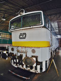 2016/08/28 - Chomutov, Czech republic - white, green and yellow diesel locomotive T478.3016 Stock Photo