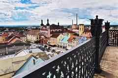 2016/06/18 Chomutov-stad, Tsjechische republiek - vierkante 'Namesti 1 Maje Royalty-vrije Stock Foto's