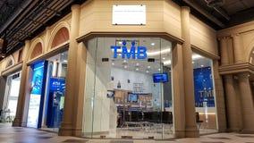 Chon Buri, Thaïlande - 21 décembre 2018 : Branche de banque de TMB, Pattaya du terminal 21 ANONYME BANK TMB COMPANY A LIMITÉ image stock